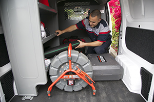 we carry in our trucks on all our plumbing Bethesda a Ridgid camera inspection tool
