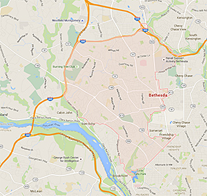the service area that our team in Bethesda, Maryland covers